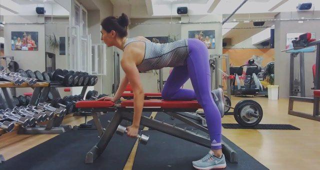 Упражнение упражнение поочередная тяга гантели к поясу стоя в наклоне