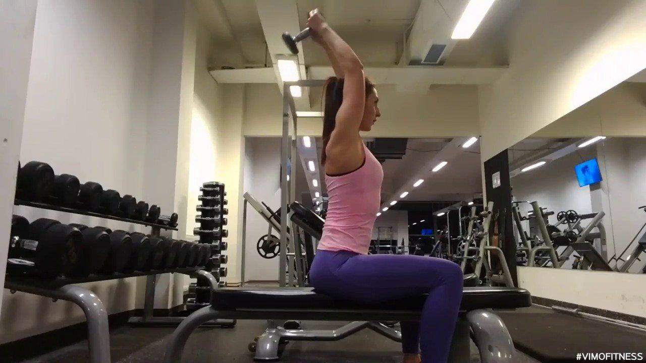 Упражнение упражнение разгибание рук из-за головы сидя одной гантелью