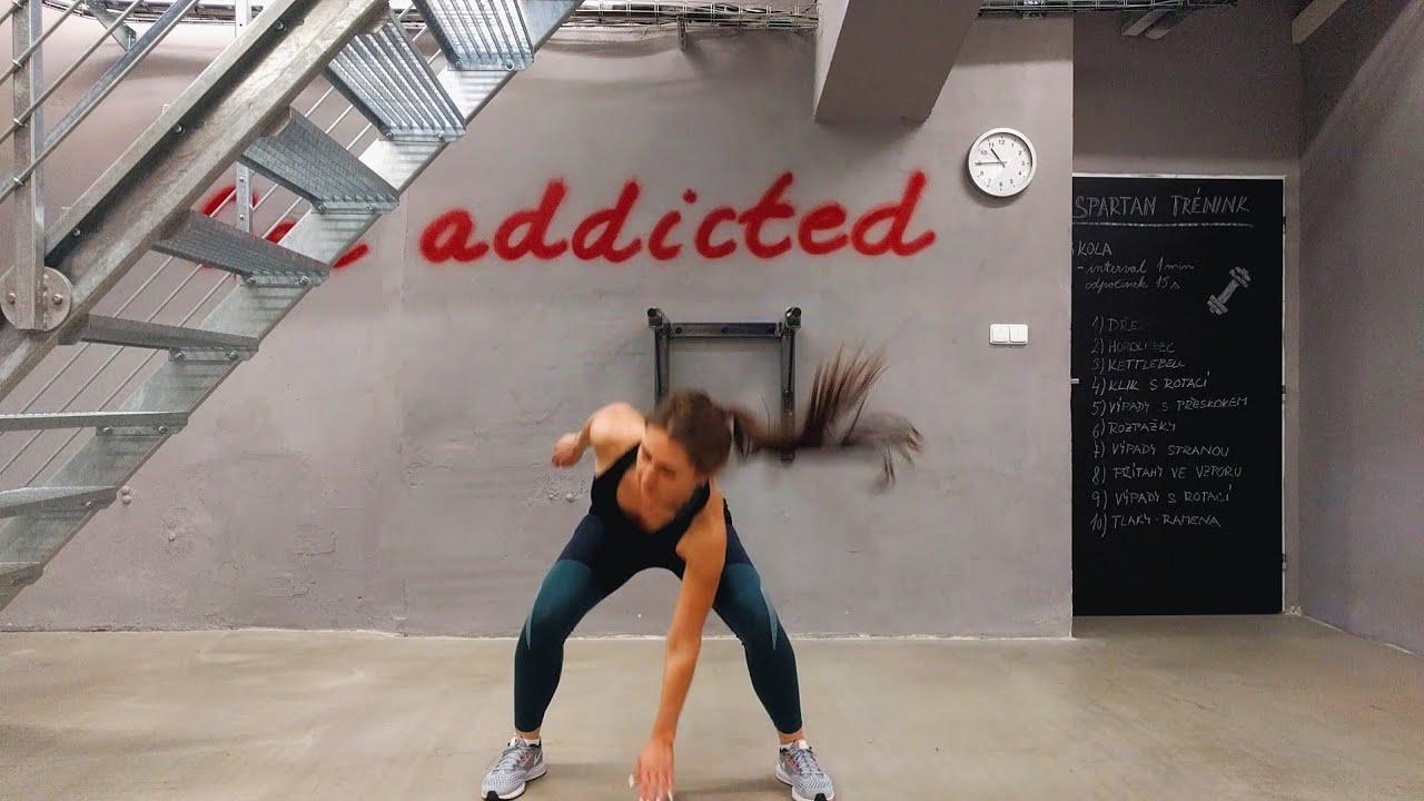 упражнение прыжки с касанием пола рукой