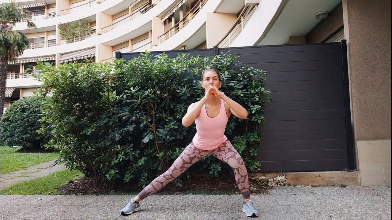 Упражнение Боковые выпады со сменой ног и пружиной